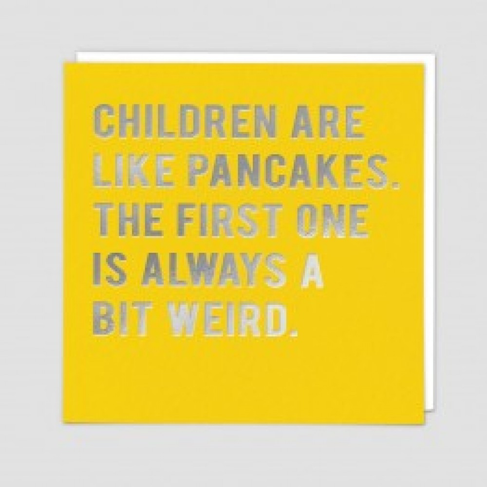 Pancakes - Funny greetings card
