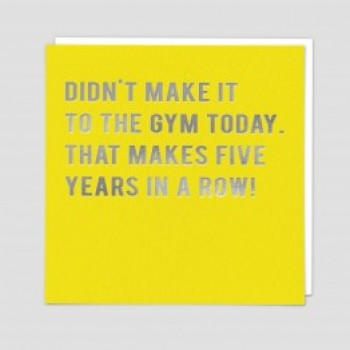 Funny Greeting Card - Five years gym