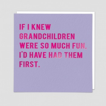 Funny Greetings Card - First