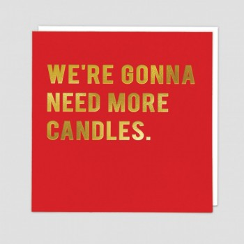 Birthday Card - More Candles