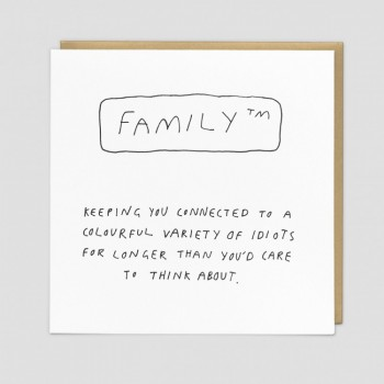 Funny Greeting Card - Family