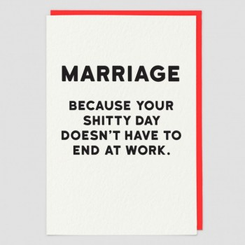 Marriage - Funny Greeting Card