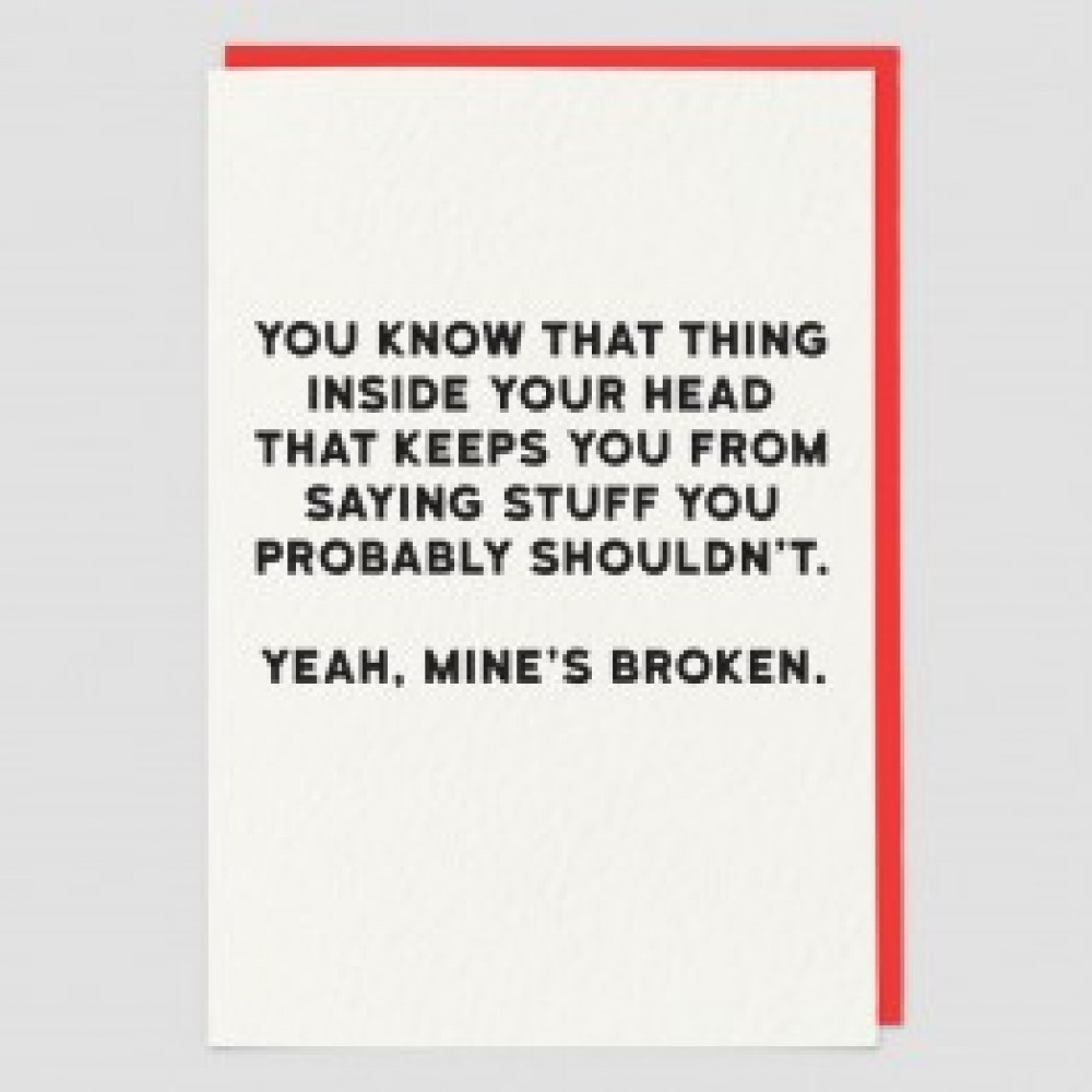 Broken - Funny greetings card