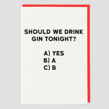gin tonight card - Holy Flaps