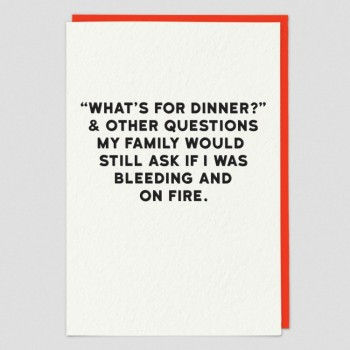 Dinner - Funny Greeting Card