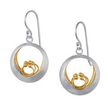 Little Water Feature - Sterling Silver and Gold Plate earings